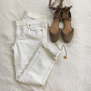 Loft white cropped jeans